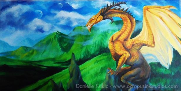 Gold Dragon Landscape