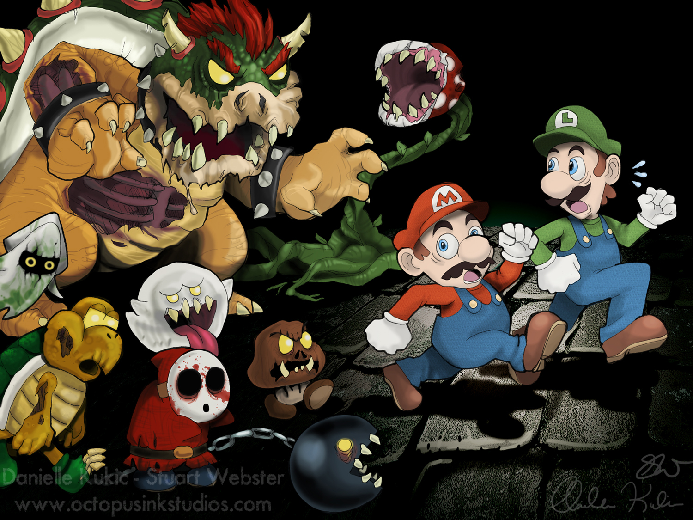 Super Mario Zombies!! | Octopus Ink Studios