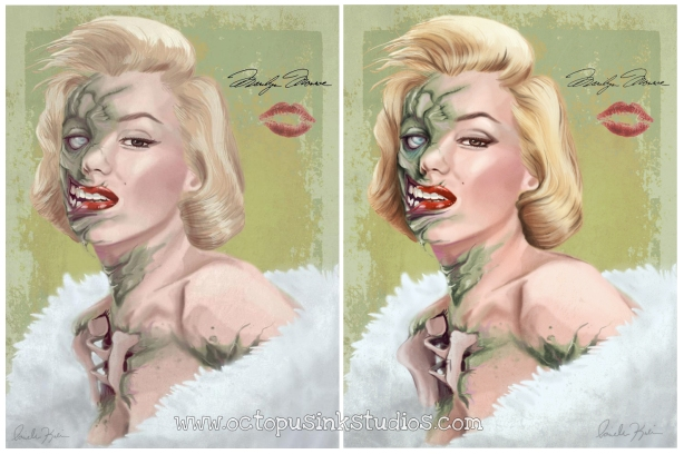 Zombie Marilyn comparisons