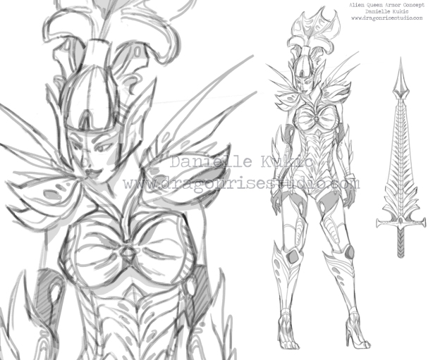 Alien Queen armor concept